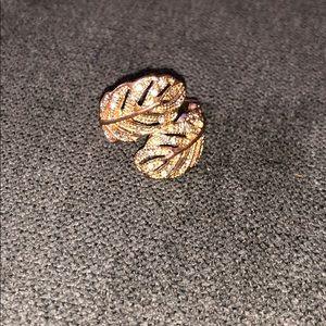diamond (fake) feathered ring